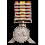 Queens South Africa Medal 1899-1902, six clasps: Cape Colony, Paardeberg, Driefontein, Johannesbu...