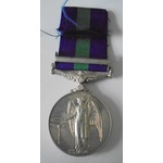 General Service Medal 1918-62, Eliz II, clasp Cyprus named to 23289553 Private H. Philip, Gordons...