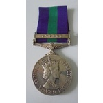 General Service Medal 1918-62, Eliz II, clasp Cyprus named to 2330910 Private I.G. Brown, Gloster...