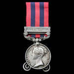 India General Service Medal 1854 clasp Burma 1887-89 named to 8026 PTE: A. MILLWOOD 1ST: BN: RIF....