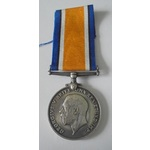 British War Medal named to 183669 C. Lawrence, Able Seaman, Royal Navy. Comes with copy set of Na...