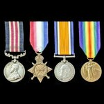A Great War Western Front Final Advance October 1918 Posthumous Military Medal group awarded to P...