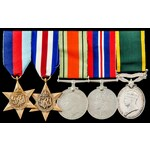 Second World War North West Europe Campaign and Territorial long service group awarded to Fusilie...