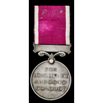 Regular Army Long Service and Good Conduct Medal, GVI 1st type bust; (6079228 SJT. C. COURT. QUEE...