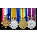 Great War Western Front 1918 Army Meritorious Service Medal and Battle of Amiens Casualty group a...