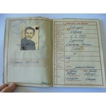 A German Wehrpass to Wolfgang Hellriegel, who saw service in an Infantry Regiment and was killed ...
