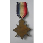 1914-15 Star named to 11909 Private J. Huntchingson, Devon Regiment. Noted as Hutchingson (no fir...