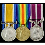 Great War June 1919 Army Meritorious Service Medal group awarded to Corporal T.F. Lenny, 2nd Batt...