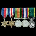 Second World War North West Europe campaign Territorial long service group awarded to Corporal R....