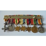 An unusual Order of the Phoenix Group of 7 attributable miniatures awarded to Captain H.A. Deller...