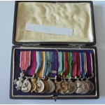 An interesting group of 13 miniatures awarded to Lieutenant Colonel R.E. Harvey, Royal Army Medic...