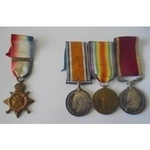 Medals to the Burberry Brothers, both members of the 15thHussars. 1914 Star with 5thA...