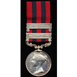 India General Service Medal 1854, two clasps, Bhootan, North West Frontier (Sepoy Suntea Thappa, ...