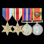 The extremely rare Second World War East Africa and Union Service Silver Protea Military Commenda...
