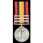 Queens South Africa Medal 1899-1902, three clasps: Cape Colony, Orange Free State, Johannesburg; ...