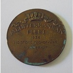 Mediterranean Fleet (Royal Navy) Prize Medal 1936, 110 stone Tug-of-war, runners-up
