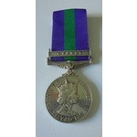 General Service Medal 1918-62, Eliz II, clasp Cyprus named to 23075996 Private M. Thompson, Royal...