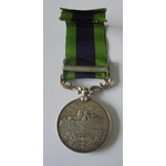 India General Service Medal 1908, Geo V, clasp North West Frontier 1935 named to 335608 Acting Se...