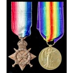 A 1914-1915 Star and Victory Medal pair awarded to 2nd Lieutenant J.H. Lawson, Kings Own Scottish...
