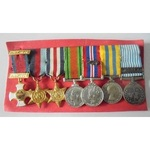 Unattributed Group of 7 Miniature Medals comprising; Distinguished Service Order, Eliz II, 1939-4...
