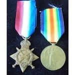 Private T.W. Nuttall, Liverpool Regiment. 1914-15 Star and Victory Medal both named to 20448 Priv...