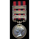 India General Service Medal 1854, three clasps, Burma 1885-7, Burma 1887-89, N.E. Frontier 1891 t...