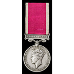 Regular Army Long Service and Good Conduct Medal, GVI 1st type bust; (5373463 SJT. L. OLNEY. R. B...