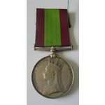 Afghanistan Medal 1878, no clasp, named to 1934 Private J. Nicholls, 2/15th Foot. Noted as deceas...