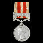 Indian Mutiny Medal, one clasp, Lucknow named to Robt Voizey, 97th Regt. (ROBT. VOIZEY. 97TH. REG...