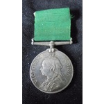 Volunteer Force Long Service and Good Conduct Medal, VR, unnamed as issued.