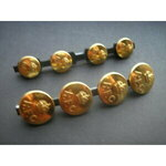 ORIGINAL LARGE gilt OFFICERS R.F.C. buttons (four) George V crown. All reverses marked Pitt & Co....