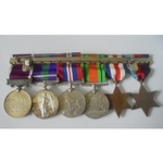 A North West Europe and post war Cyprus Campaign Group of 6 medals awarded to Sergeant S. Miller,...