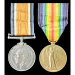A Great War pair awarded to Private C. Haynes, Middlesex Regiment.