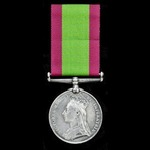 Afghanistan Medal 1878, no clasp, named to 2357 Private J. Answer, 2/14th Regiment. Officially en...