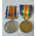 Corporal B.H. Coveney, Royal Artillery. British War Medal and Victory Medal both named to 900823 ...