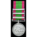 Afghanistan Medal 1878-1880, three clasps: Charasia, Kabul, Kandahar, awarded to Private James Wi...