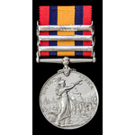 Queens South Africa Medal, three clasps: Cape Colony, Orange Free State, Transvaal; (4842 PTE J. ...
