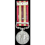 India General Service Medal 1895, one clasp: Punjab Frontier 1897-98; (854 SOWAR MOHKAM CHAND 3D ...