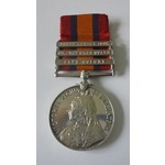 Queens South Africa Medal, three clasps, Cape Colony, Orange Free State and South Africa 1902 nam...