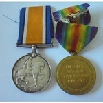 Private C.G. Bazeley, Royal Army Medical Corps. British War Medal and Victory Medal both named to...