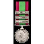 Afghanistan Medal 1878-1880, three clasps: Peiwar Kotal, Charasia, Kabul, awarded to Private Andr...