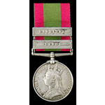 Afghanistan Medal 1878-1880, two clasps, Kabul, Kandahar; (1397. PTE. S. COMPTON. 9TH. LANCERS.) ...