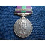 General Service Medal 1918-62, Eliz II, clasp Cyprus named to 4121708 Corporal P.G. Green, Royal ...