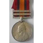 Queens South Africa Medal, two clasps, Orange Free State and Cape Colony awarded to 3829 Private ...