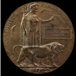 The historically interesting Great War Memorial Plaque named to William James Collyer, one of two...