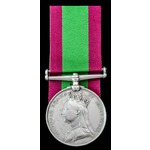 Afghanistan Medal 1878-1880, no clasp, awarded to Rifleman William Monks, 2nd Battalion, 60th Rif...