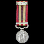 India General Service Medal 1895, clasp: Relief of Chitral 1895, awarded to Daffadar Mahmud Khan,...