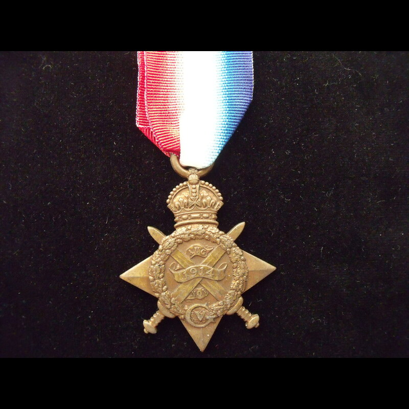 1914 Star to 6855 PTE Sidney .   Great War Medals