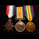 1914 TRIO to 6323 CPL Edward WRIGHT 1st KING'S ROYAL RIFLE CORPS from Grimsby. KIA F&F 10/3/15 in...
