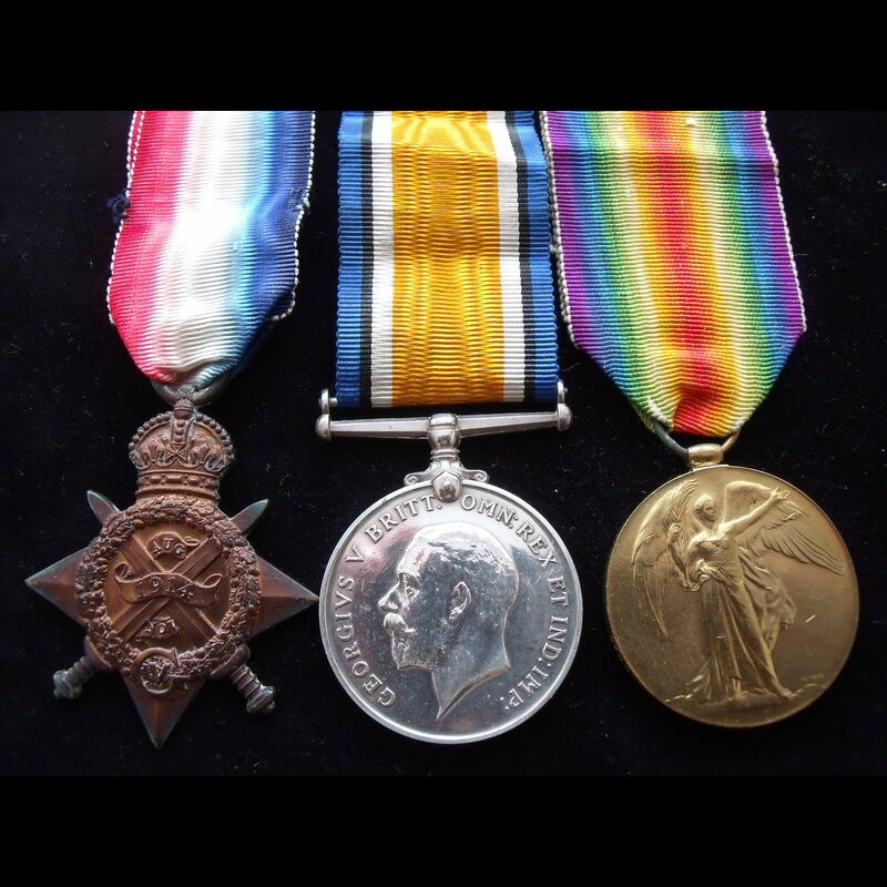 1914 TRIO to 9760 PTE James A. | Great War Medals